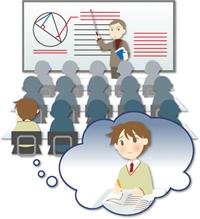 岐阜県大垣市で一斉講義をする学習塾